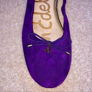 Purple Sam Endelman Felicia Suede Ballet Flats 9.5